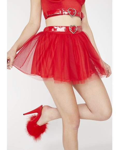 Cherry Praise Me Tutu Skirt