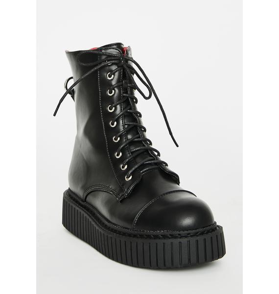 Lamoda Night Rider Combat Boots