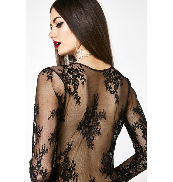 Roma Wayward Lullaby Sheer Lace Bodysuit