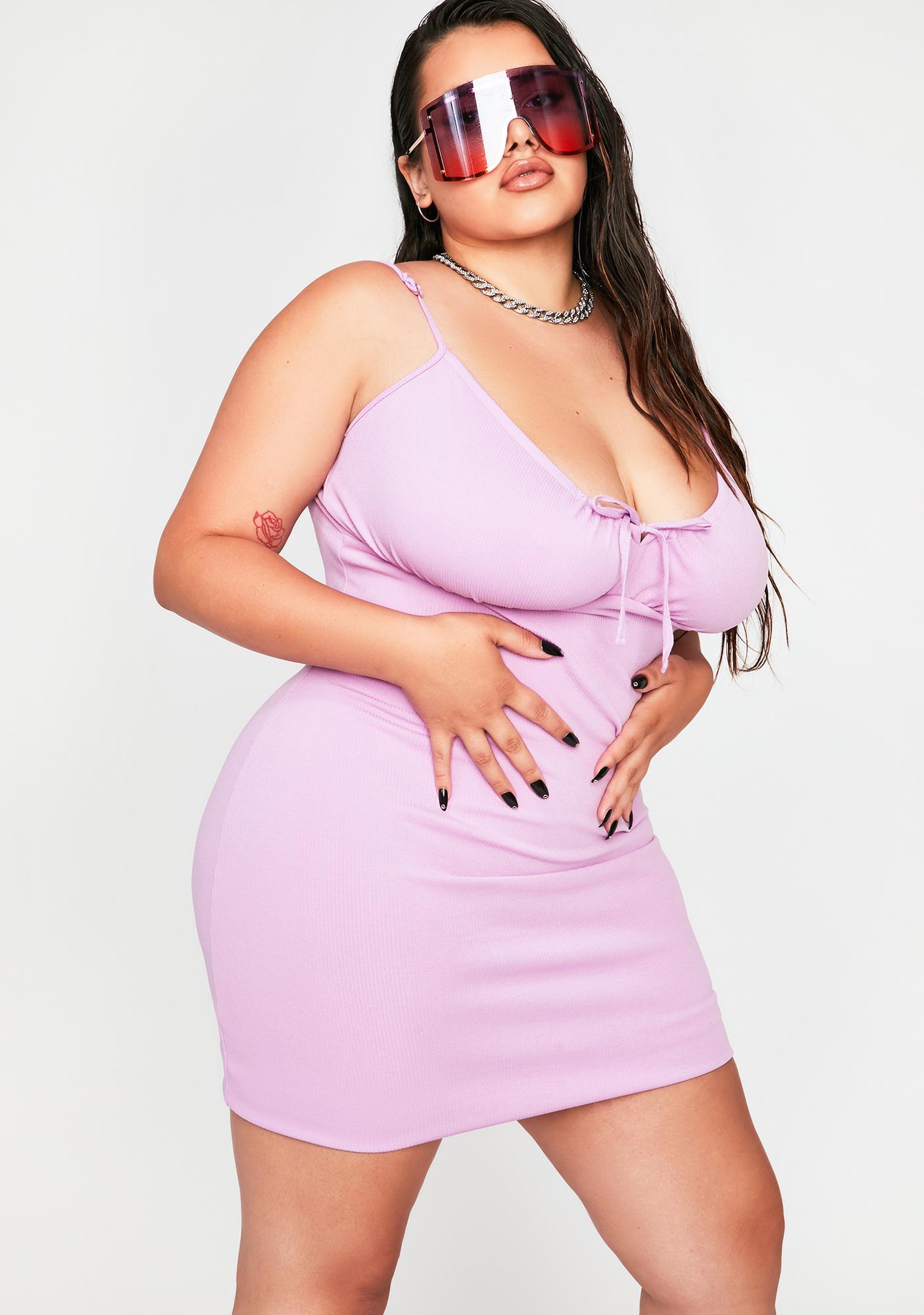 Lilac Gotta Gimme More Bodycon Dress