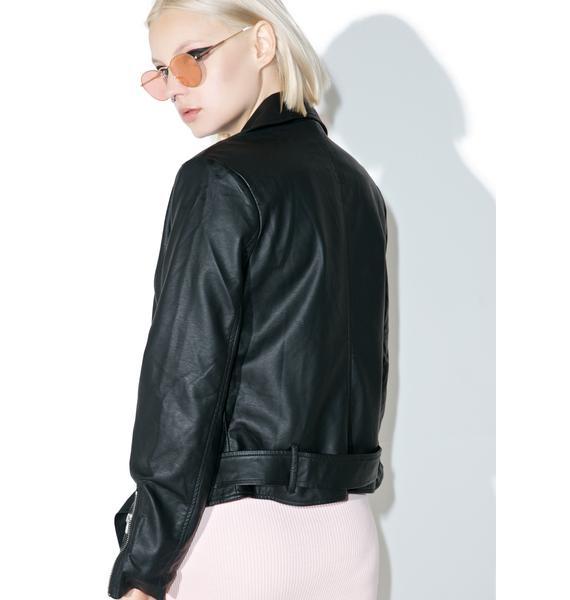 Ex-Factor Cropped Moto Jacket