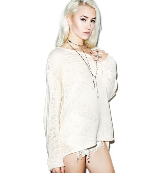 Wildfox Couture Essentials Loose Knit Roadie Sweater