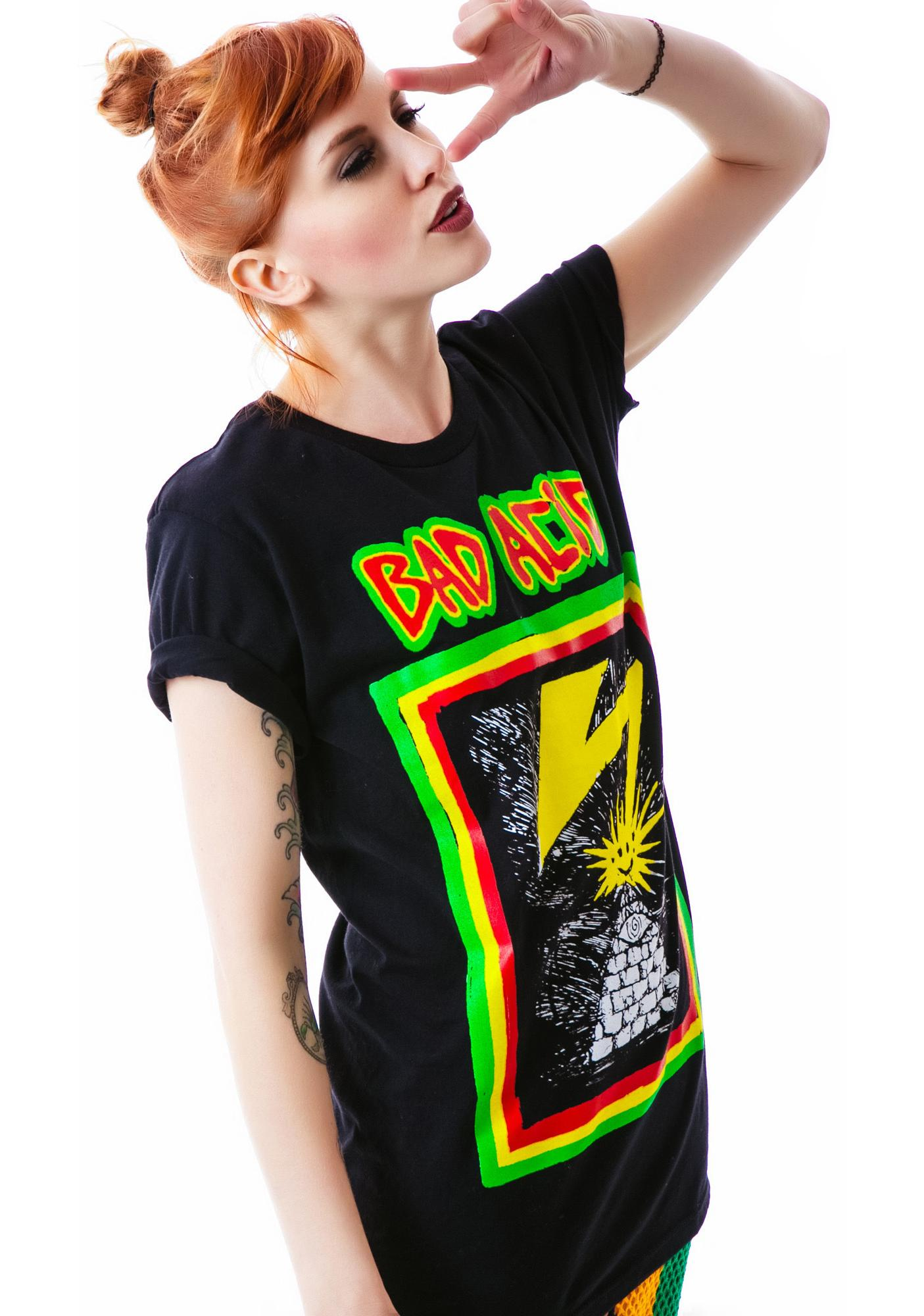 Bad Acid No Brains Tee