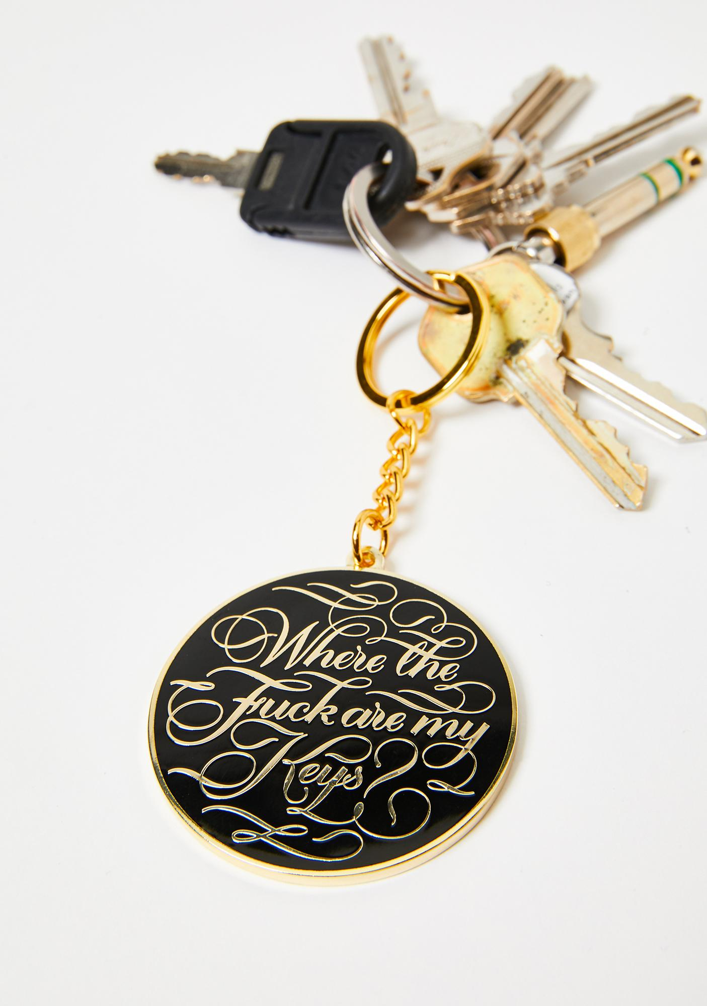 Organized Mess Pendant Keychain