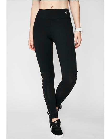 Voguing Vixen Lace-Up Leggings