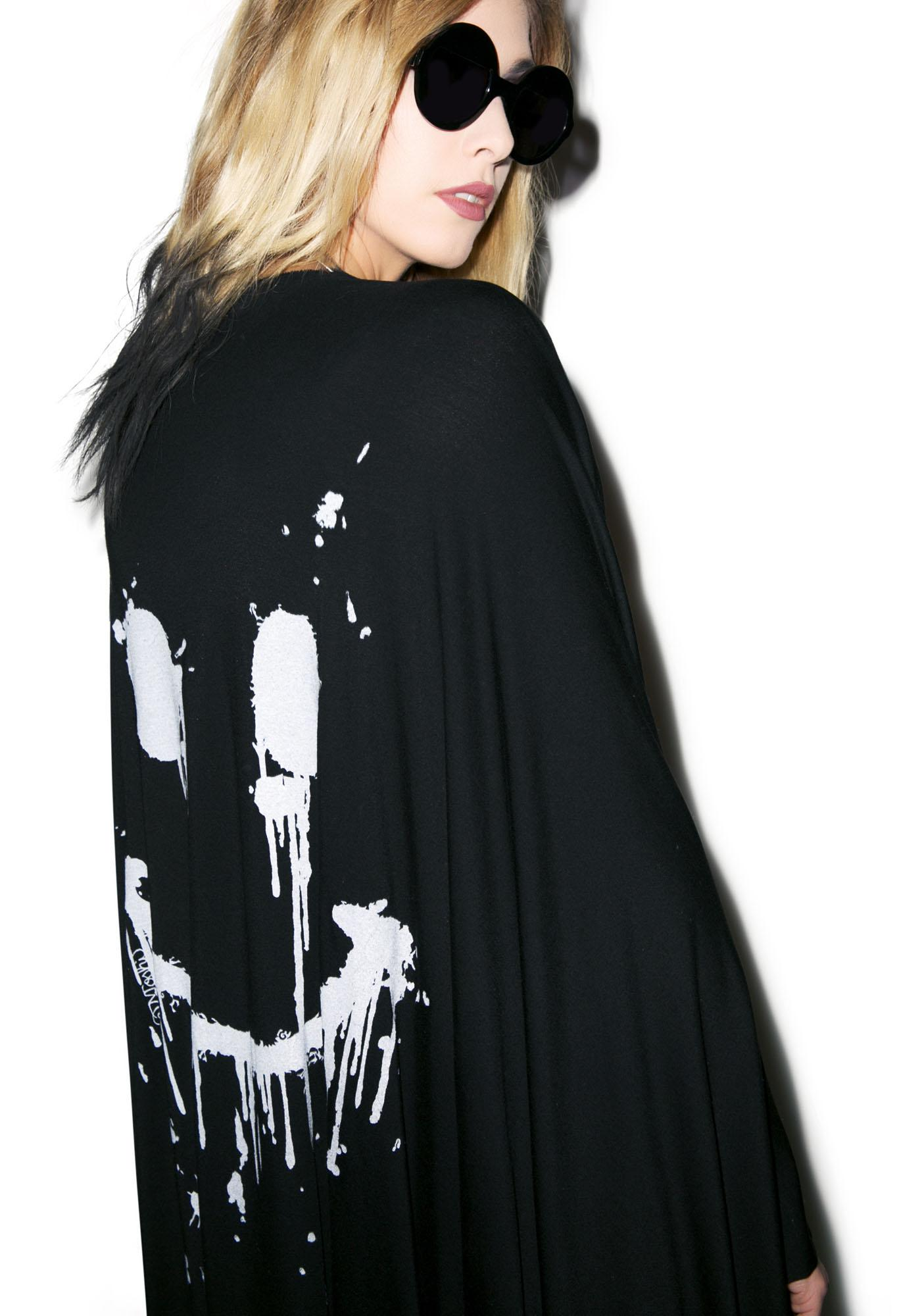Lauren Moshi Eloise Dripping Happy Face Cardigan