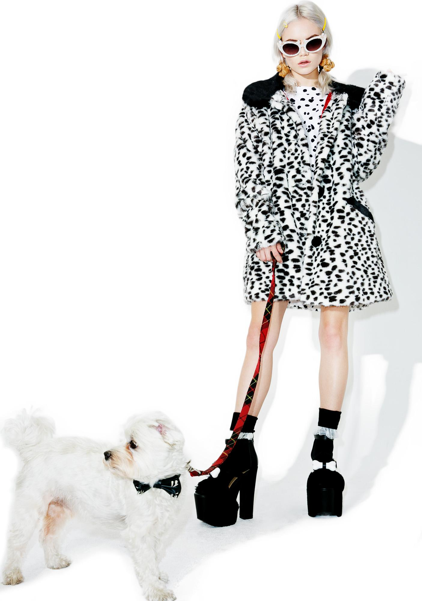 Lazy Oaf X Disney 101 Dalmatians Faux Fur Coat