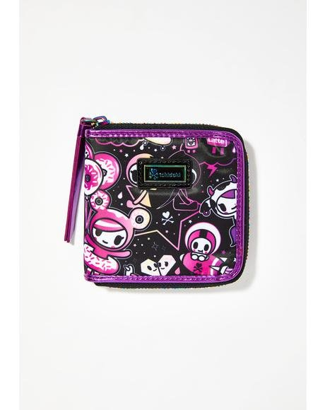 Galactic Dreams Small Zip Around Wallet