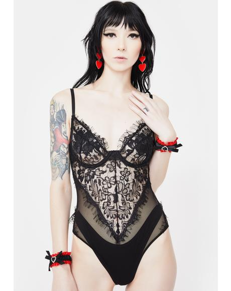 Dark Rules Of Attraction Lace Teddy