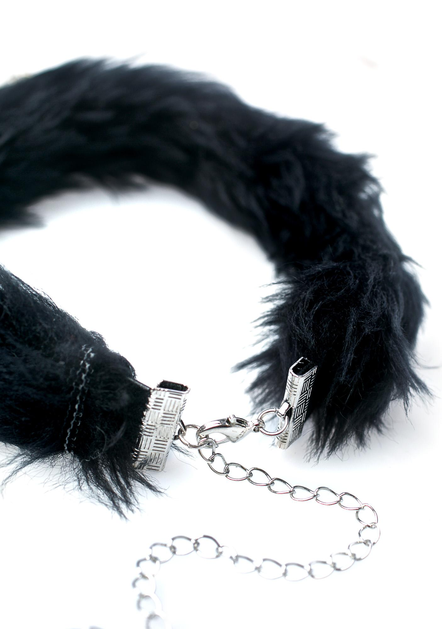 Kerenika Luna Bell Fur Choker