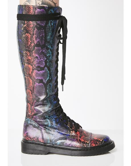 Junglist Jewel Drop Combat Boots