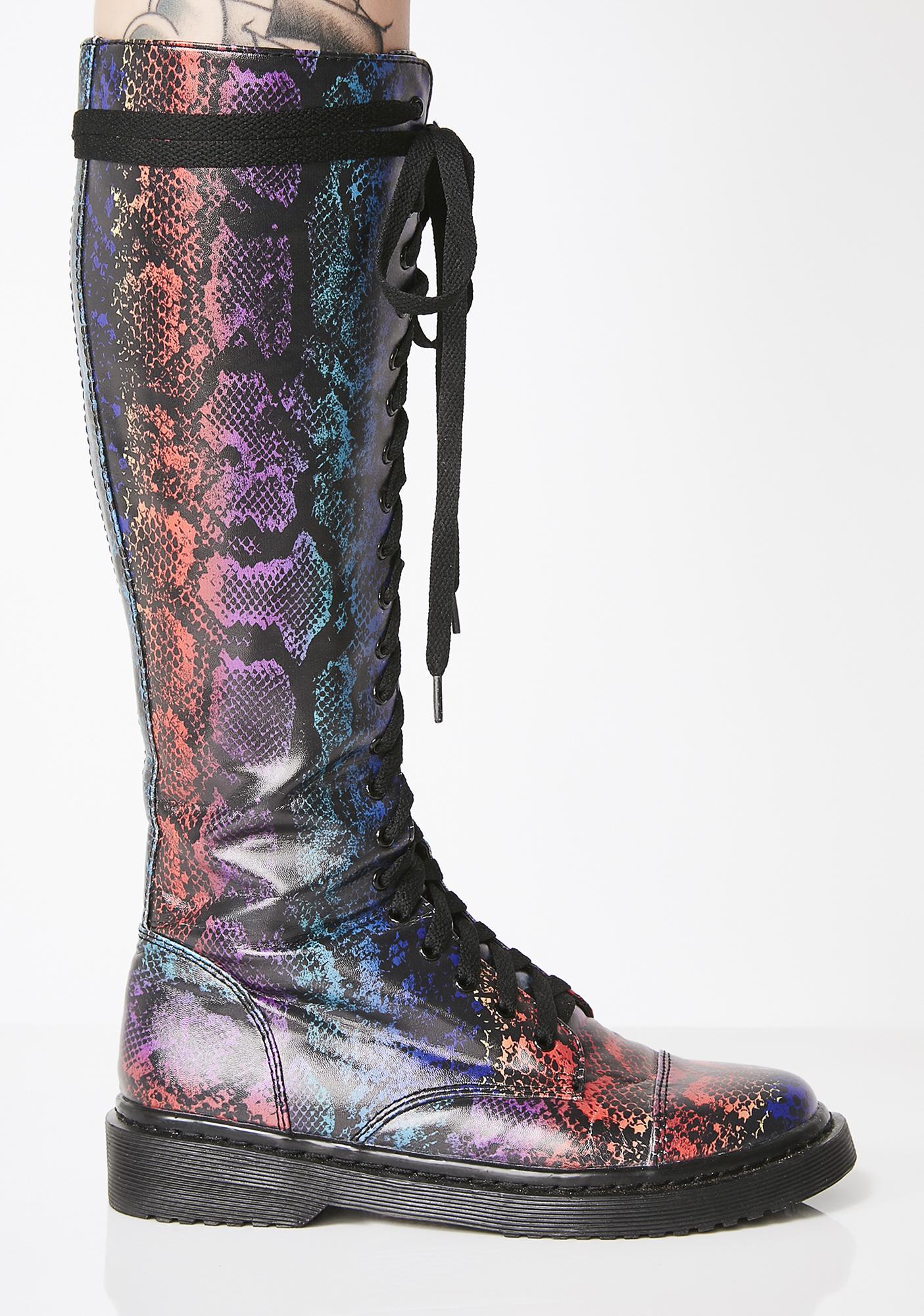 Club Exx Junglist Jewel Drop Combat Boots