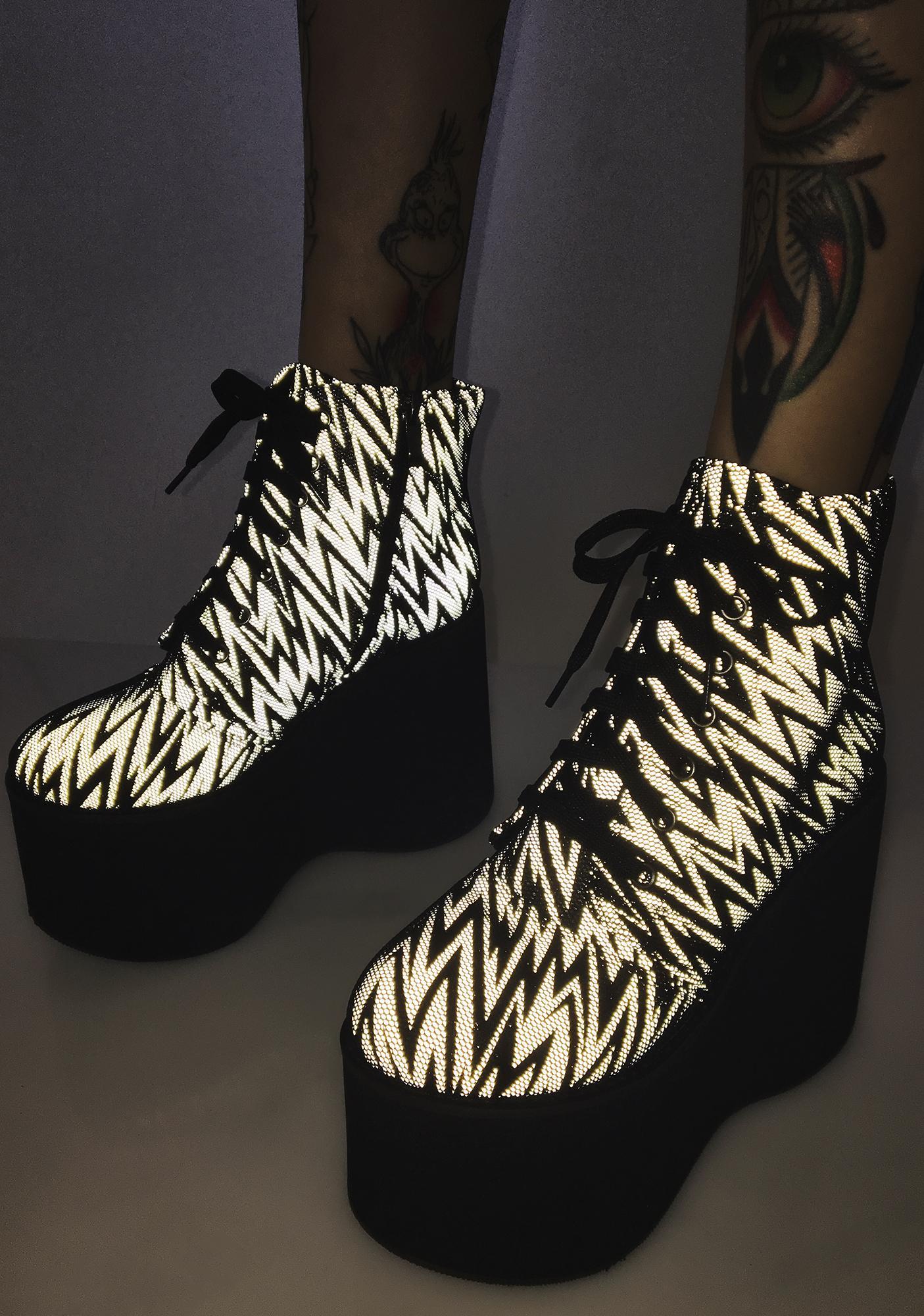 Lightning Shock Waves Platform Boots