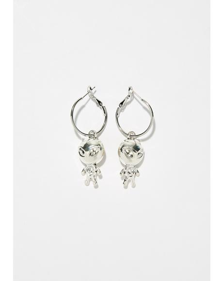 Cosmic Stranger Hoop Earrings