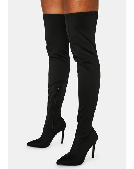 Off Duty Diva Thigh High Boots