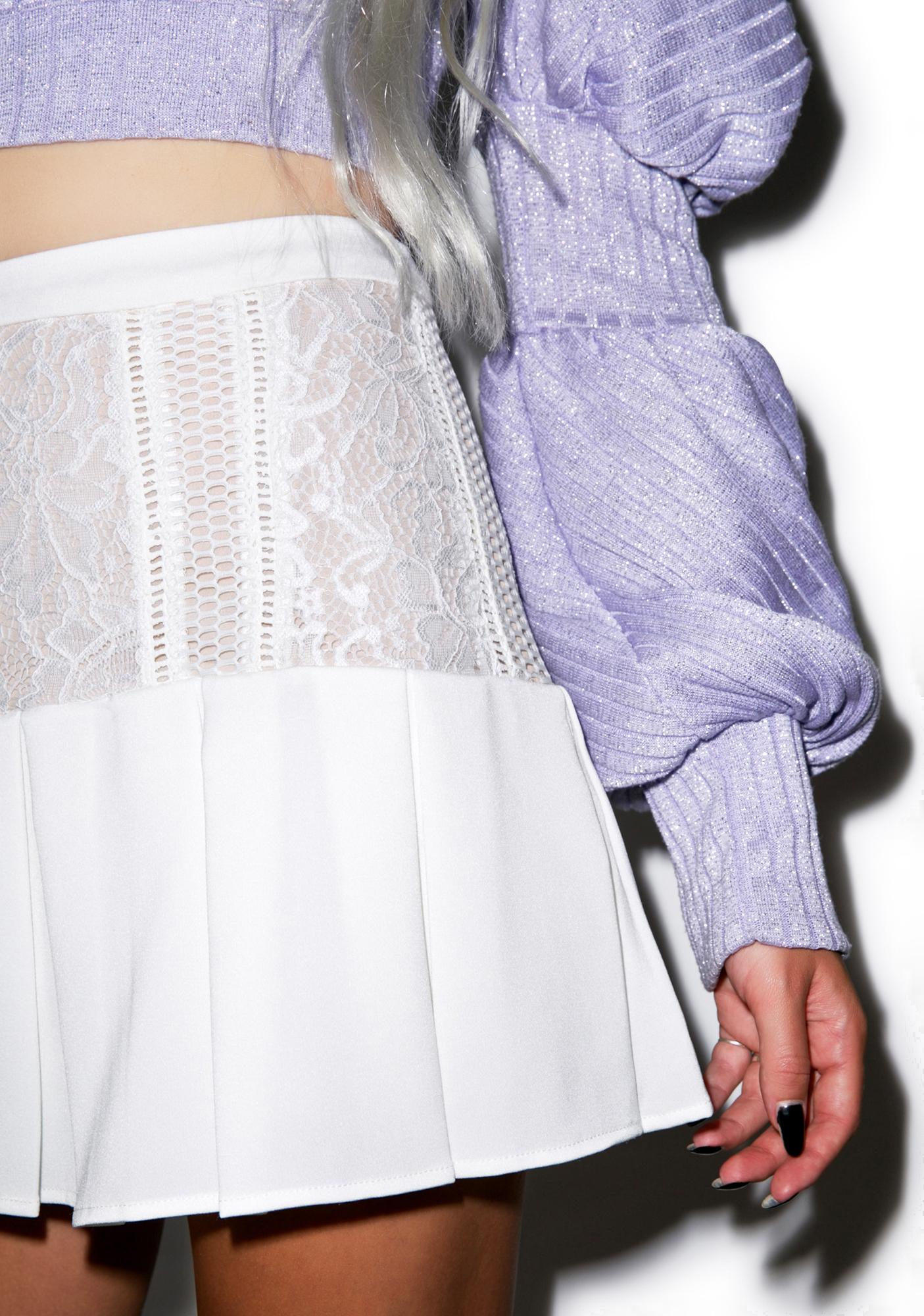 Lace Be Honest Pleated Skirt