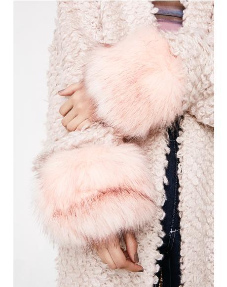 Blush Funky Fuzzy Bracelet