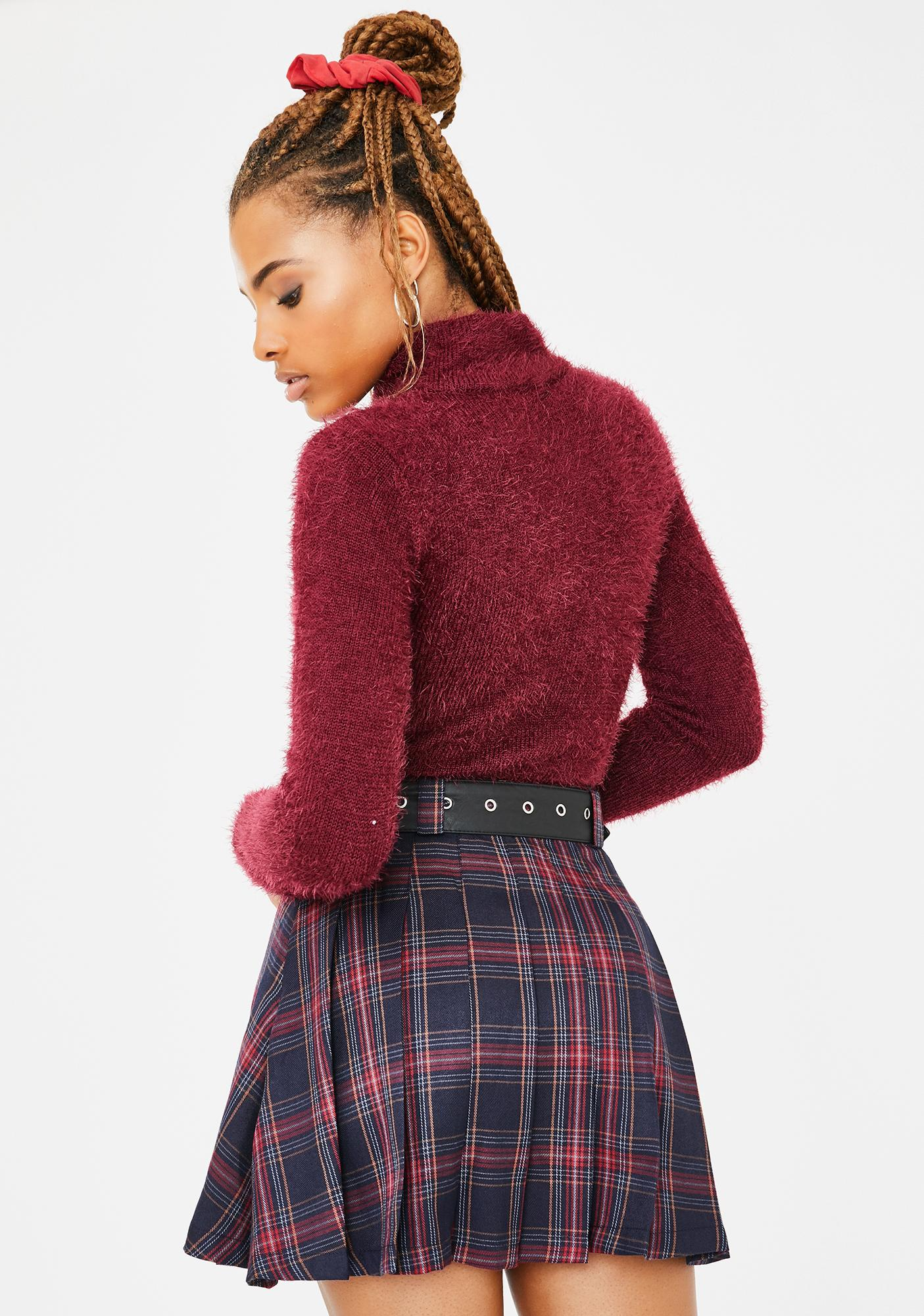 Current Mood Private School Rebel Plaid Skirt