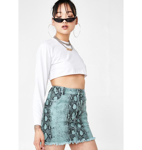Aqua Venom Snakeskin Skirt