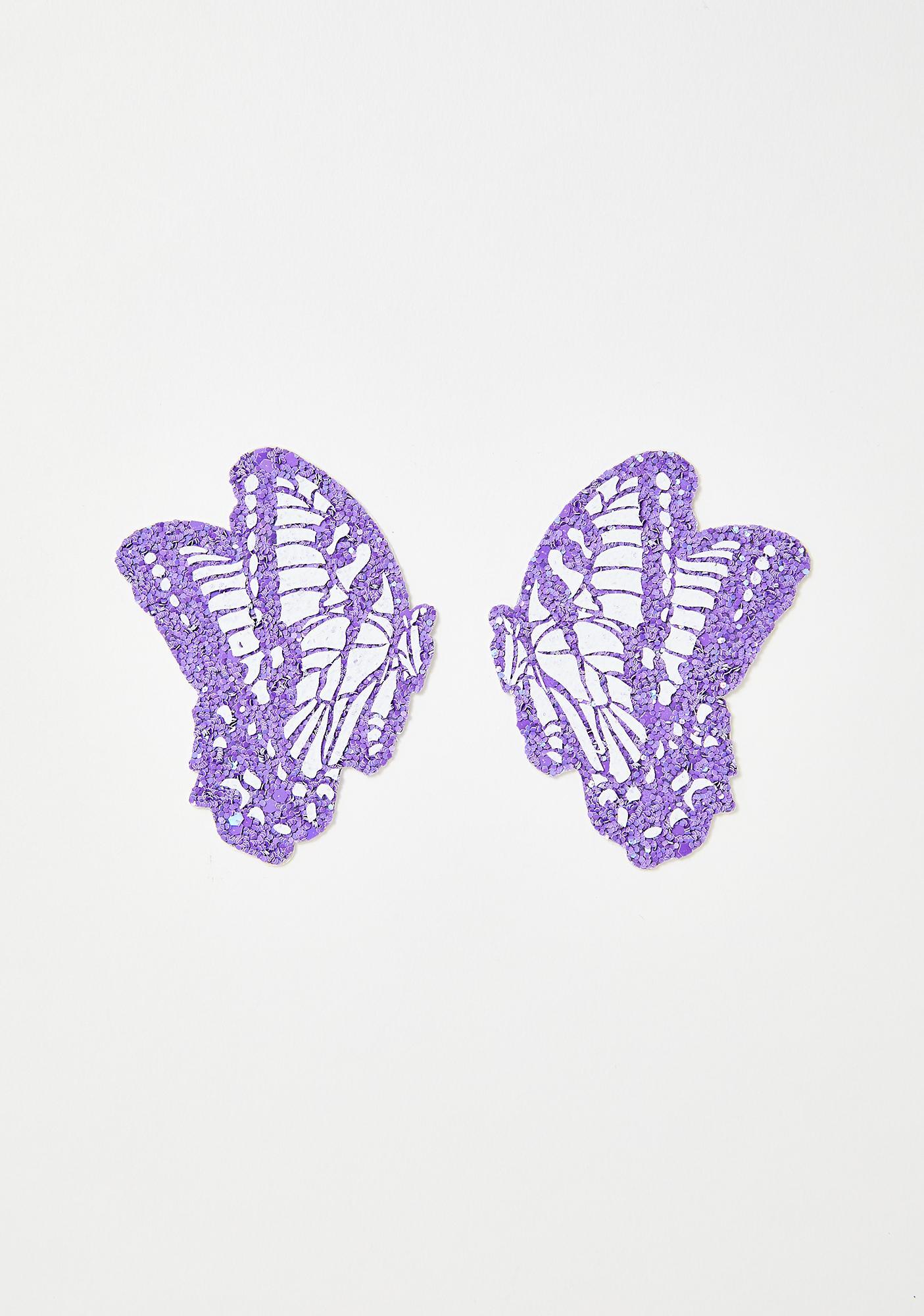 Neva Nude Butterfly Kisses Glitter Pasties