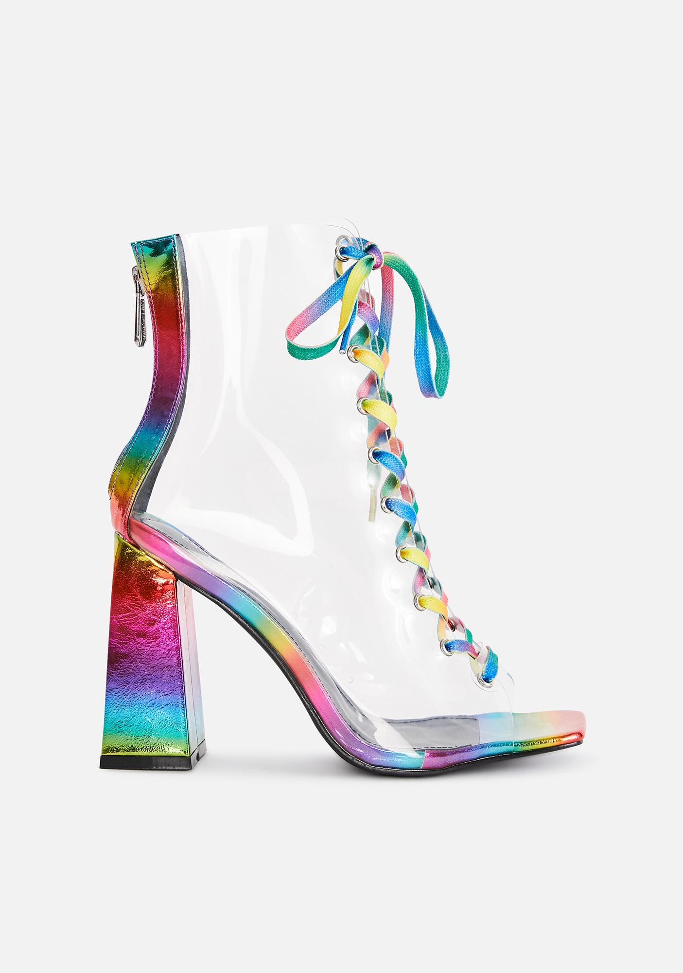 Magic Hour Lace Up Heels