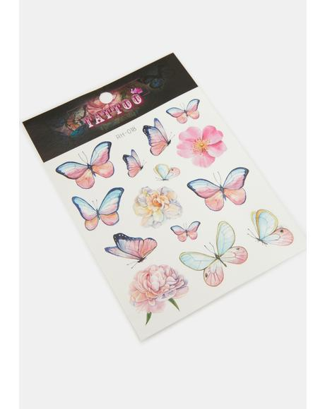 Cutesy Butterfly Temporary Tattoo