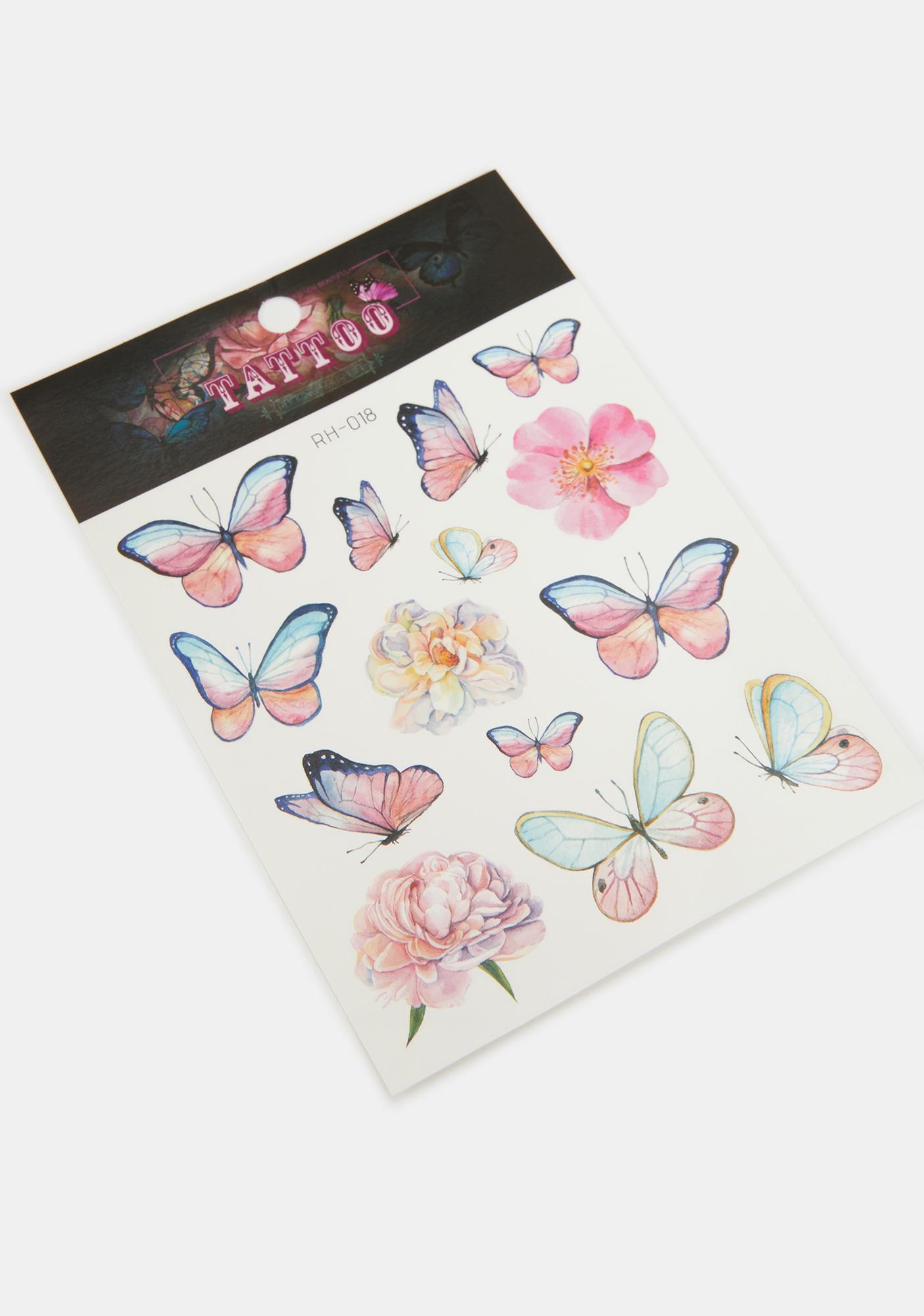 Cutesy Butterfly Temporary Tattoo