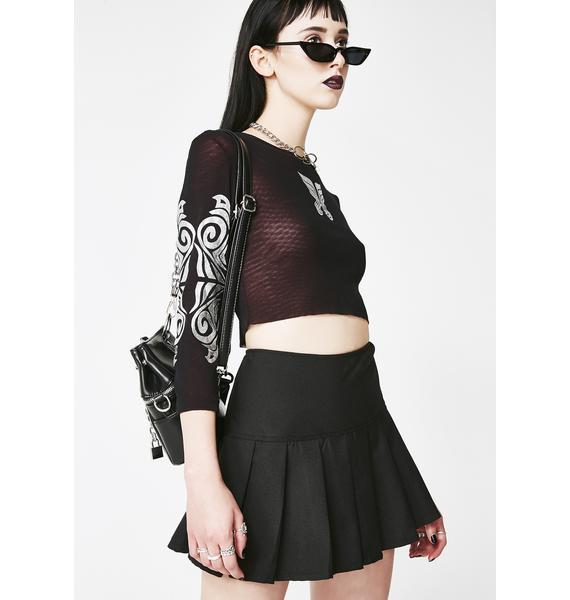 Tripp NYC Midnight Pleated Mini Skirt
