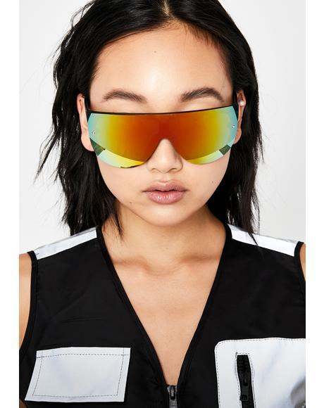 Nuclear Dope Scene Mirrored Sunglasses