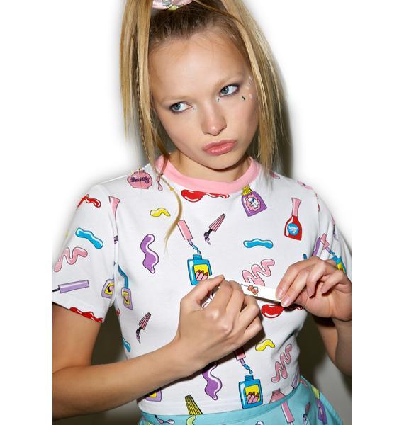 Lazy Oaf Nail Art T-Shirt
