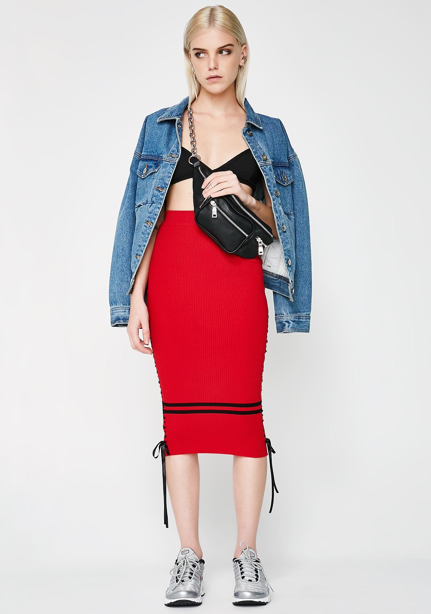 Strike Out Midi Skirt