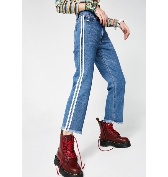 Fast Lane Striped Jeans
