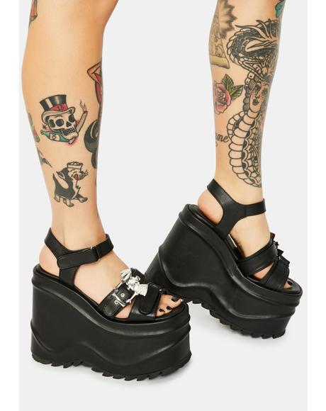 Creature Of Hell Platform Sandals