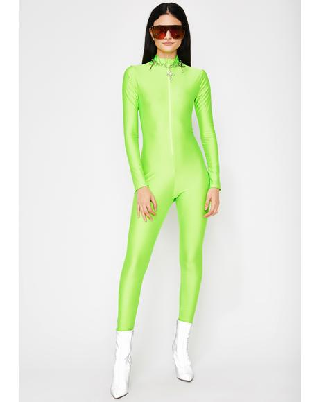 Digital Dash Zip Catsuit