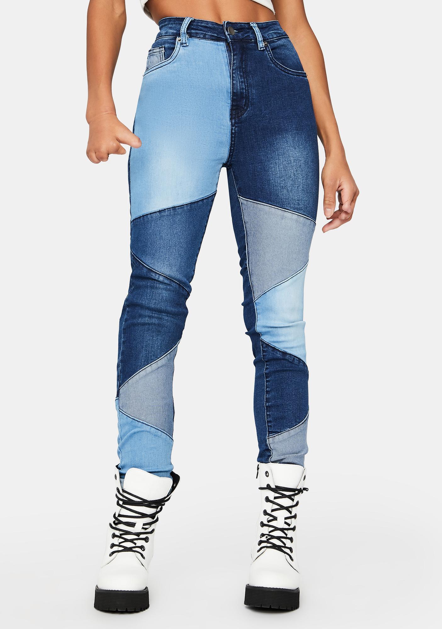 Hey Angel Patchwork Skinny Jeans
