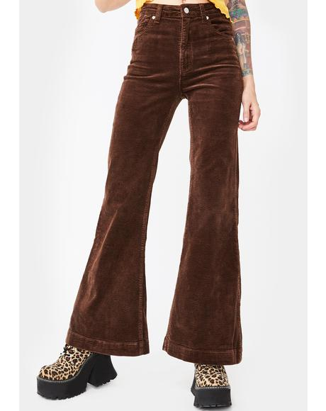 Brown Eastcoast Corduroy Flares