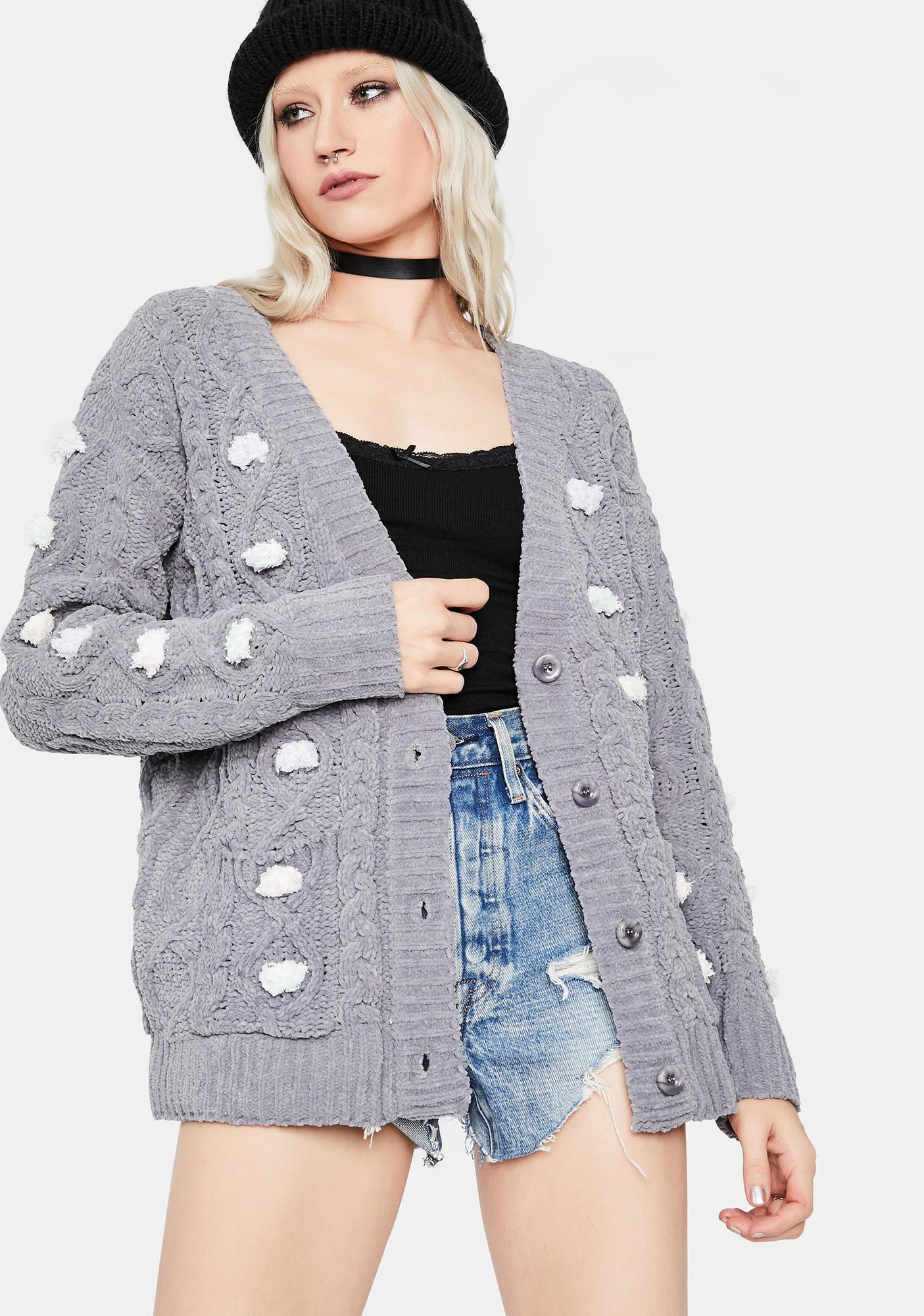 Foggy City Cable Knit Cardigan