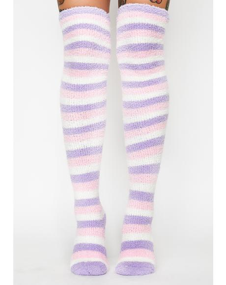 Cloud Candy Knee High Socks