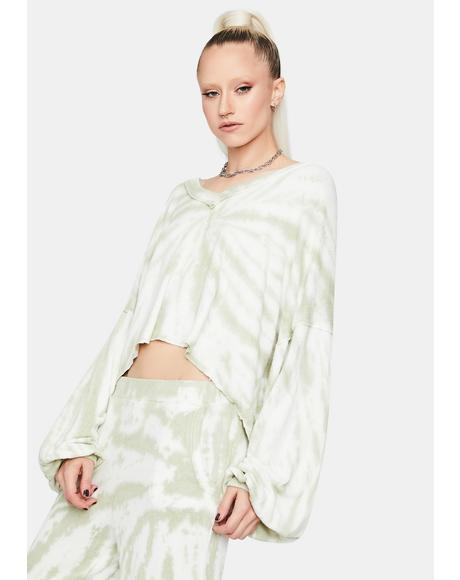 Sage New Fantasies Tie Dye Batwing Top