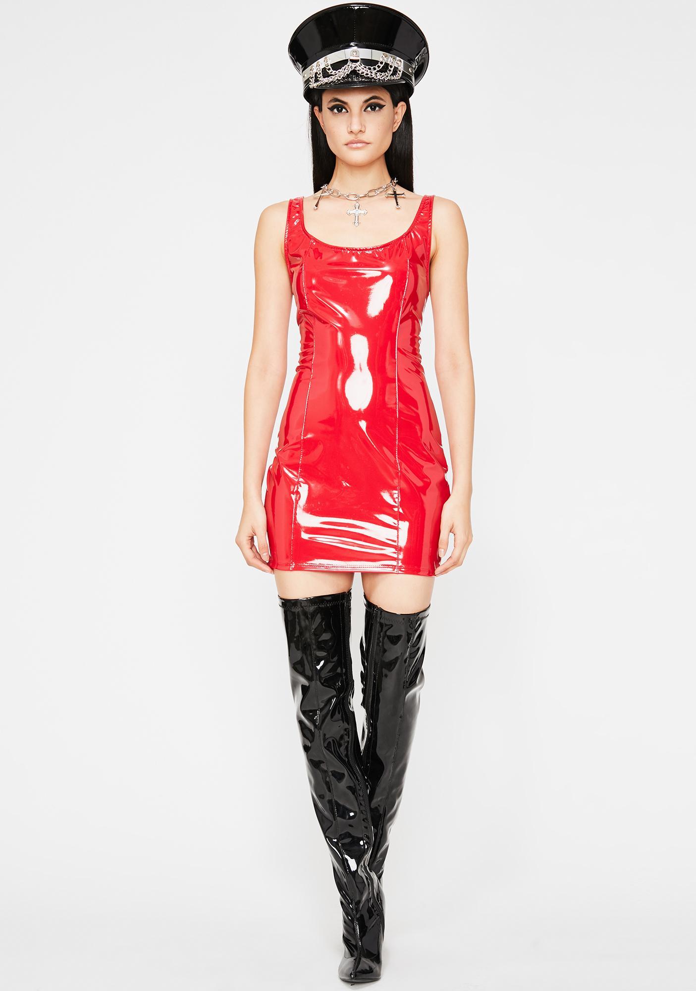 Acid Mayhem Vinyl Dress