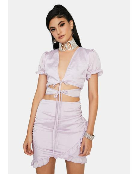 Lavender Gardens Mini Dress