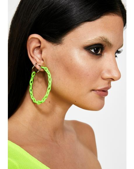 Nuclear Slime Squad Chain Earrings