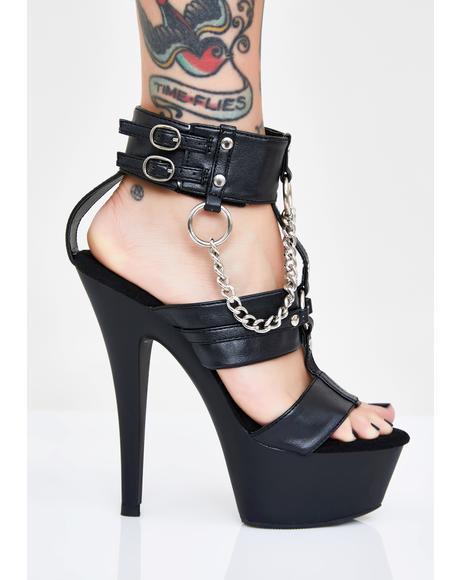 Bondage Baddie Platform Heels
