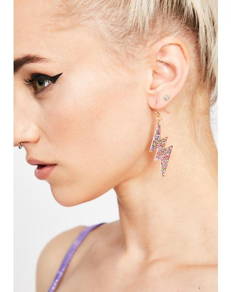 Trippy Extra Shocking Lightning Earrings