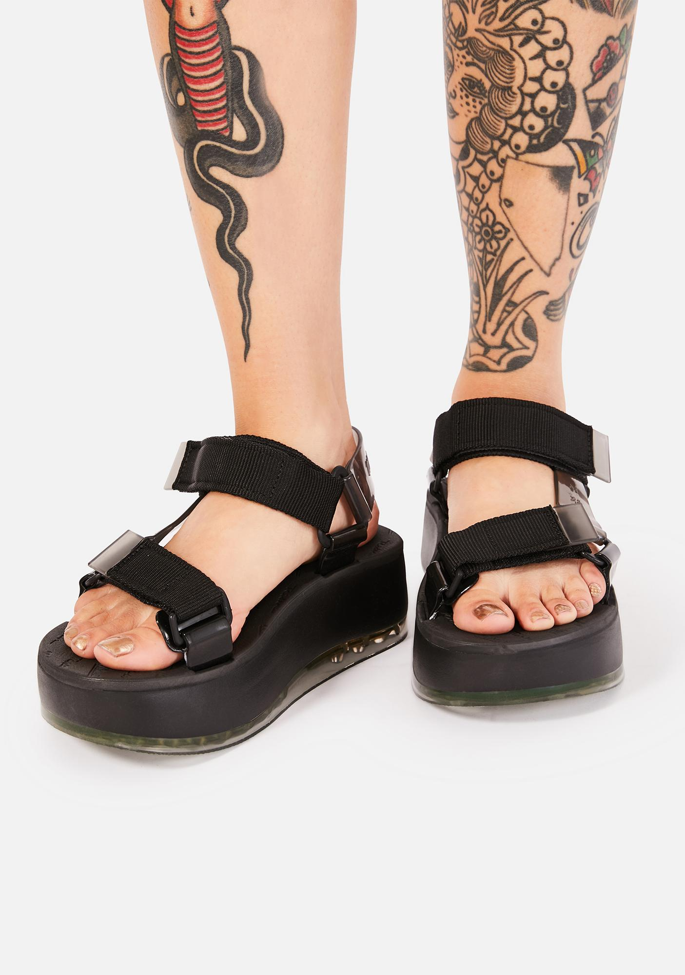 Melissa Black Papete Platform Sandals