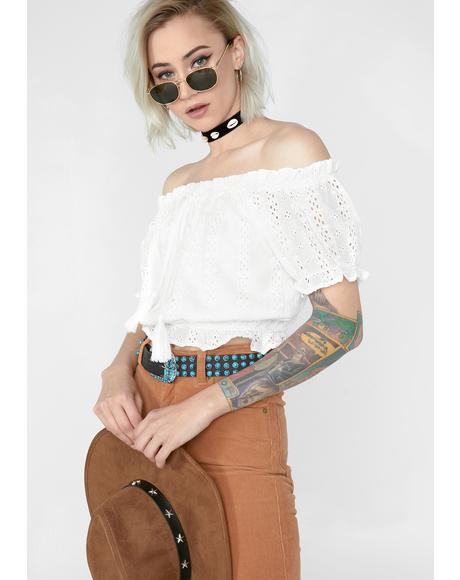 Psychedelic Wonder Off The Shoulder Blouse