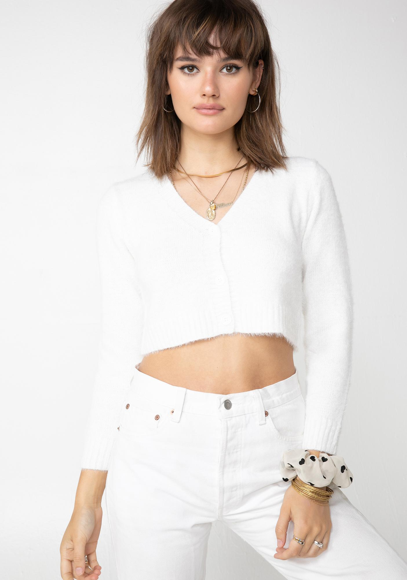 Frosted Deuces Cropped Sweater