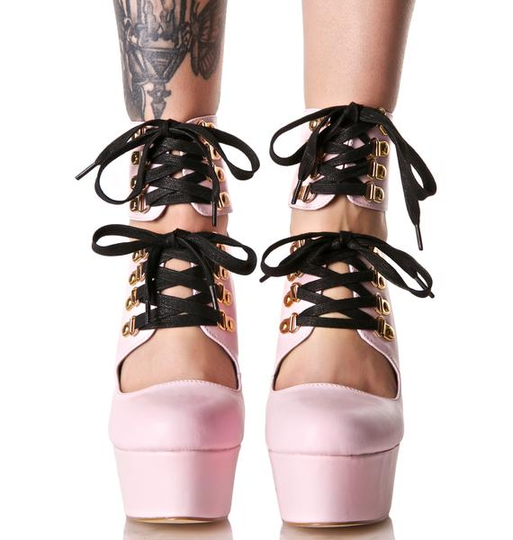 Privileged Moira Lace-Up Booties