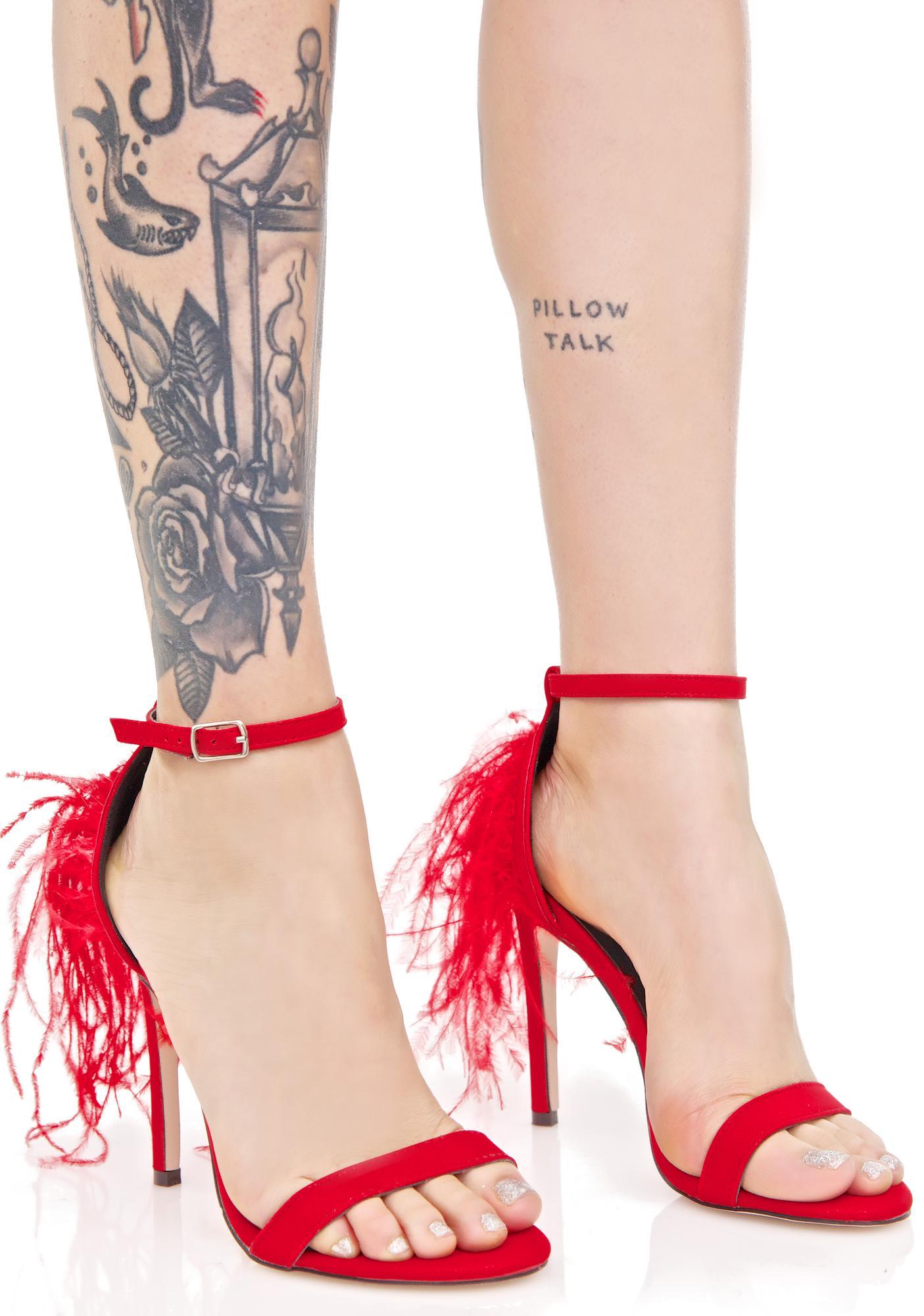 Hotshott Fluffy Heels