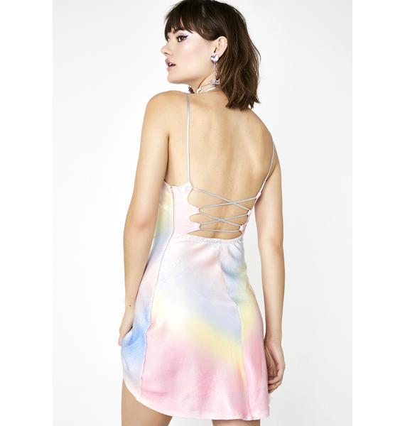 Sugar Thrillz Rainbow Sherbert Sequin Dress